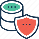 antivirus, data security, protection shield, security, server security icon