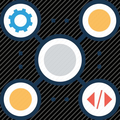 analysis, cogwheel, data analytics, data visualization, marketing analytics icon