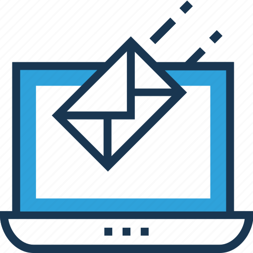 email, feedback, incoming email, laptop, message icon