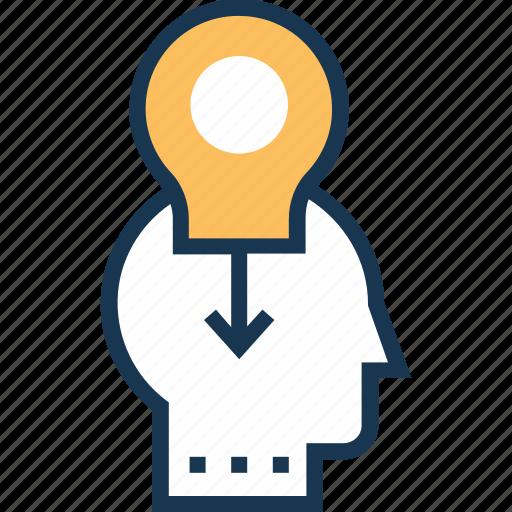 generate idea, idea, idea develop, interference, personal solution icon