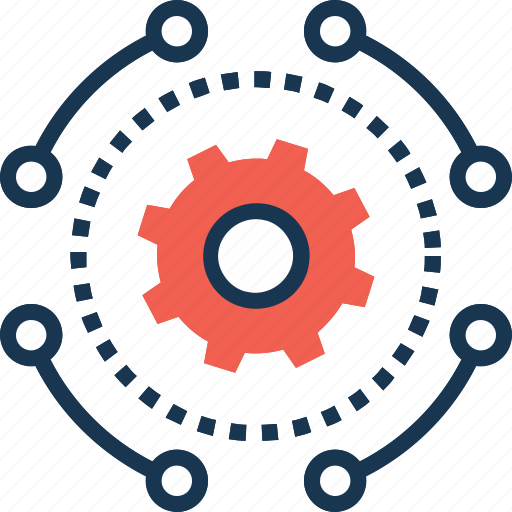 automated service, business, cog, cogwheel, service icon