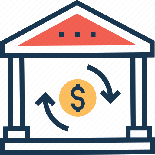 currency exchange, exchange office, exchange shop, money conversion, money exchange icon