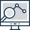 graph, lcd, monitor, web analytics, web checker icon