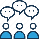 feedback, review, talking, user, user surveys icon