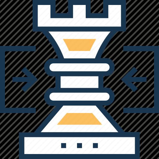 check rook, chess, chess pawn, development, technology icon