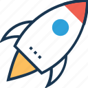 launch, missile, rocket, spacecraft, startup icon