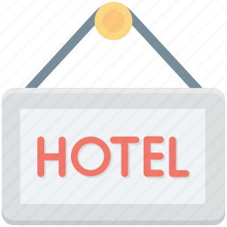 hanging sign, hotel, hotel signboard, signboard, swing sign icon