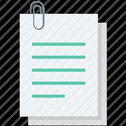attached document, attachment, document, file attachment, paperclip icon