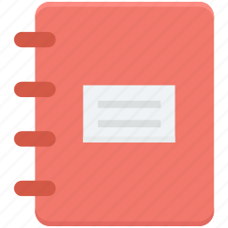 catalogue, diary, memo book, notebook, notepad icon