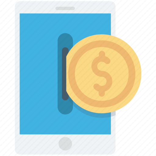 dollar, m commerce, mobile banking, online business, online work icon