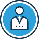 business person, businessman, manager, profile, profile picture icon