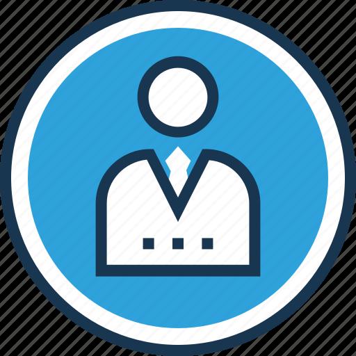 business person, businessman, manager, profile, profile picture icon