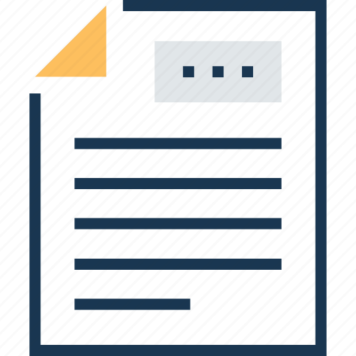documents, notes, sheet, text sheet, writing icon