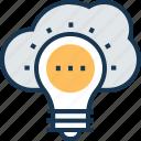 bulb, campaign, cloud creative, creative campaign, creative idea icon