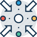 analysis, analytics, arrows, key person, seo icon