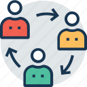 business community, community, group work, people network, team icon