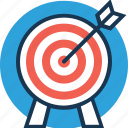 bullseye, dart board, goal, target, targeting icon