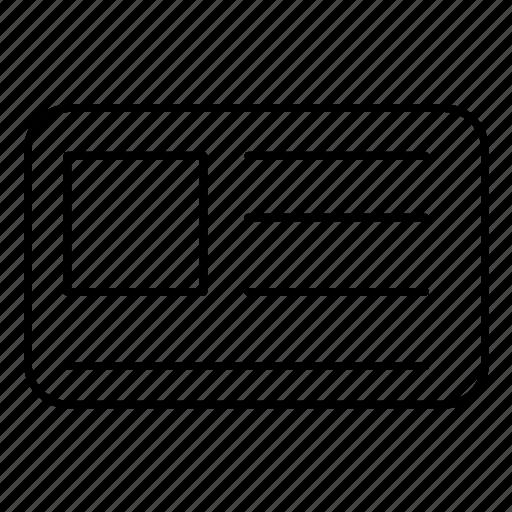 card, id, profile icon