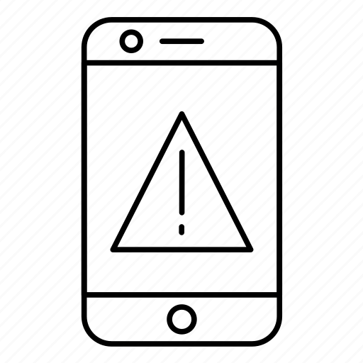 error, mobile, phone icon