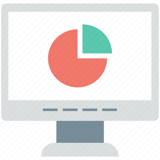 analytics, infographics, online graph, pie chart, pie graph icon