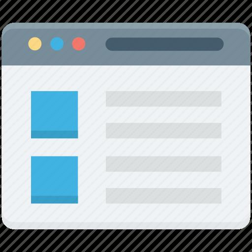 web layout, web template, webpage, website, windows tab icon