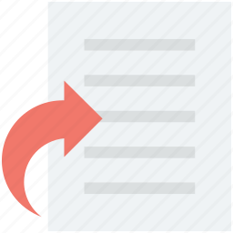 document, forward file, share file, sheet, text doc icon