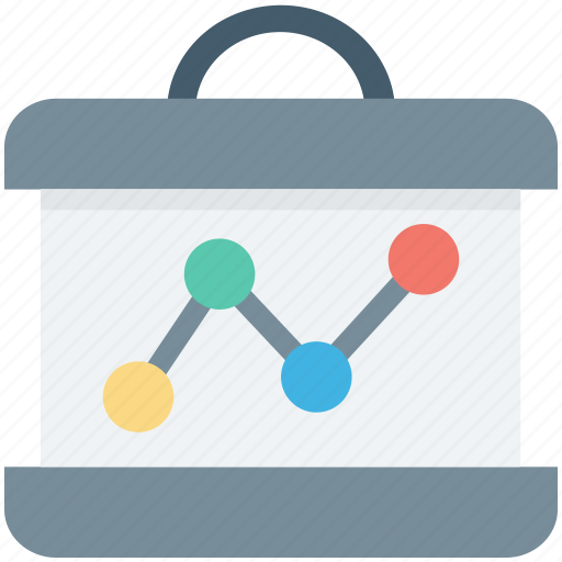analytics, business graph, flipchart, graph analysis, statistics icon