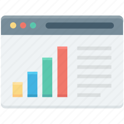 bar chart, online graph, seo performance, web analytics, webpage icon