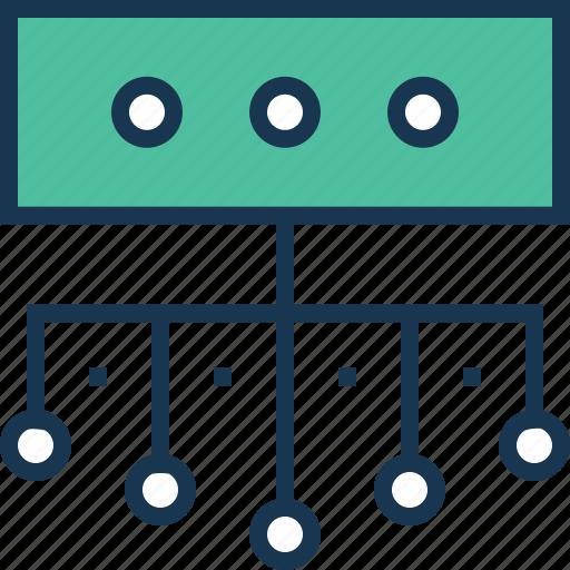 connectivity, data, data server, data share, data sharing icon