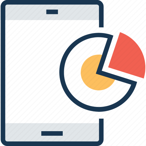 diagram chart, infographic, mobile graph, mobile stats, online graph icon