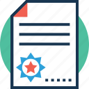 business documents, business papers, documents, paper, text sheet icon