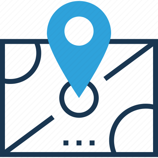 location, location marker, location pointer, map pin, navigation icon
