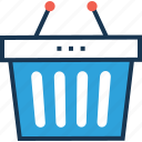 basket, bucket, online store, shopping, shopping basket icon