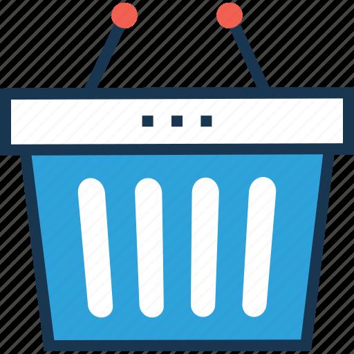 basket, bucket, online store, shopping, shopping basket icon