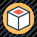 box, cube molecule, cube shape, logo, molecule icon