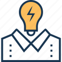 brainstorming, bulb, creativity, idea, idea develop icon