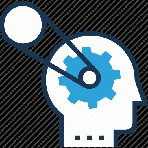brain chain, brainstorming, chain, mental process, mind icon