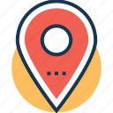location, location marker, location pointer, map pin, navigation icon