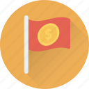 destination flag, ensign, flag, location flag, table flag icon