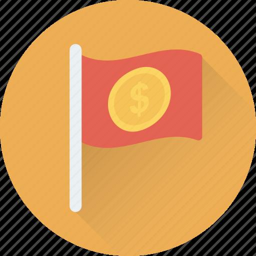 Destination flag, ensign, flag, location flag, table flag icon - Download on Iconfinder