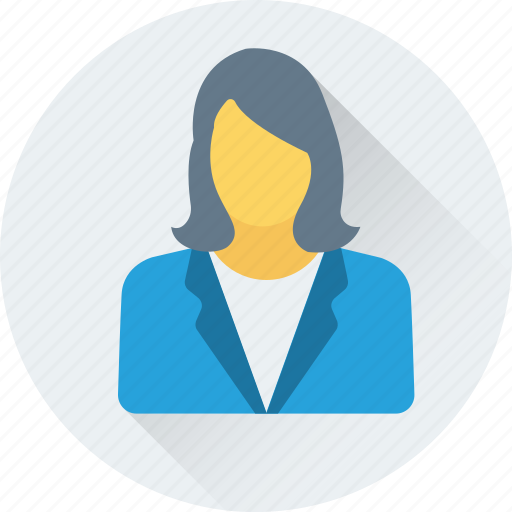 accountant, banker, businesswoman, girl, investor icon
