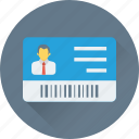 employee card, id badge, identity card, job card, volunteer card icon