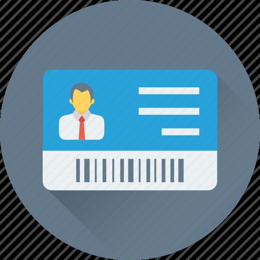 employee card, id badge, identity card, job card, volunteer card icon