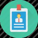 job card, id badge, employee card, volunteer card, identity card