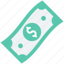 banknote, currency note, dollar note, finance, paper money icon