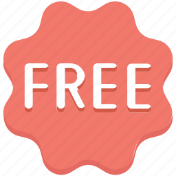 free, free badge, offer, sticker icon
