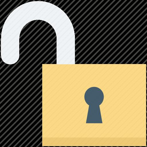 access, open lock, padlock, safety, unlock icon