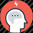 brainstorming, brainwash, idea, idea develop, thunder