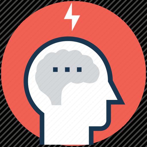brainstorming, brainwash, idea, idea develop, thunder icon