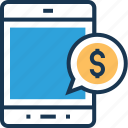 banking sms, chat bubble, check balance, mobile banking, speech bubble